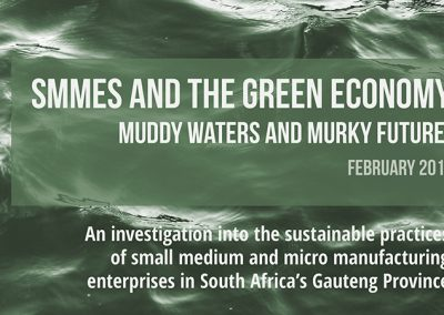 SMMEs and the Green Economy