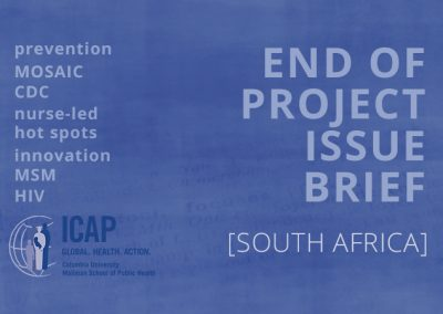 ICAP End of Project Brief – South Africa